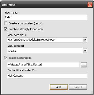 Add /Employee/Index View Dialog