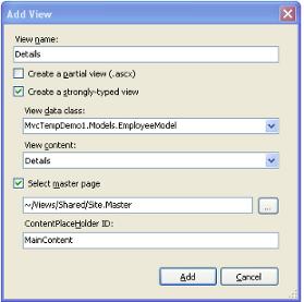 Add /Employee/Details View Dialog
