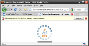 MSDN Downloads Java - Applet download Applet